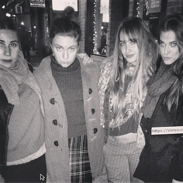 These women looked like mere Girls in Lena Dunham's sentimental black and white. Source: Instagram user lenadunham