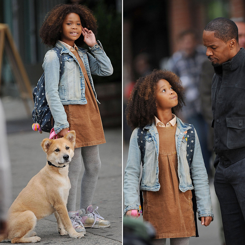 We Got Annie! Quvenzhané Wallis and Jamie Foxx Film in NYC