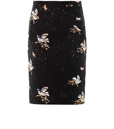 No. 21 Bird embroidered lace skirt