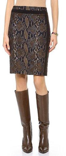Diane von furstenberg Paulina Python Pencil Skirt