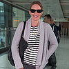 Emily Blunt at Heathrow Airport in London