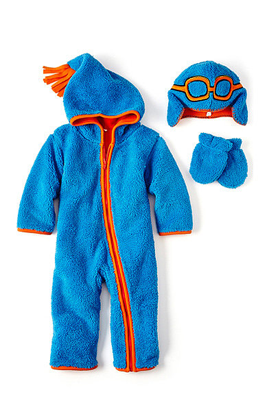 giggleBABY Sherpa Fleece Hooded Coveralls ($28)