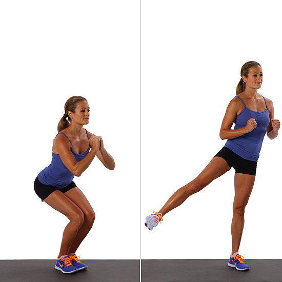 Squat With Side Leg-Lift
