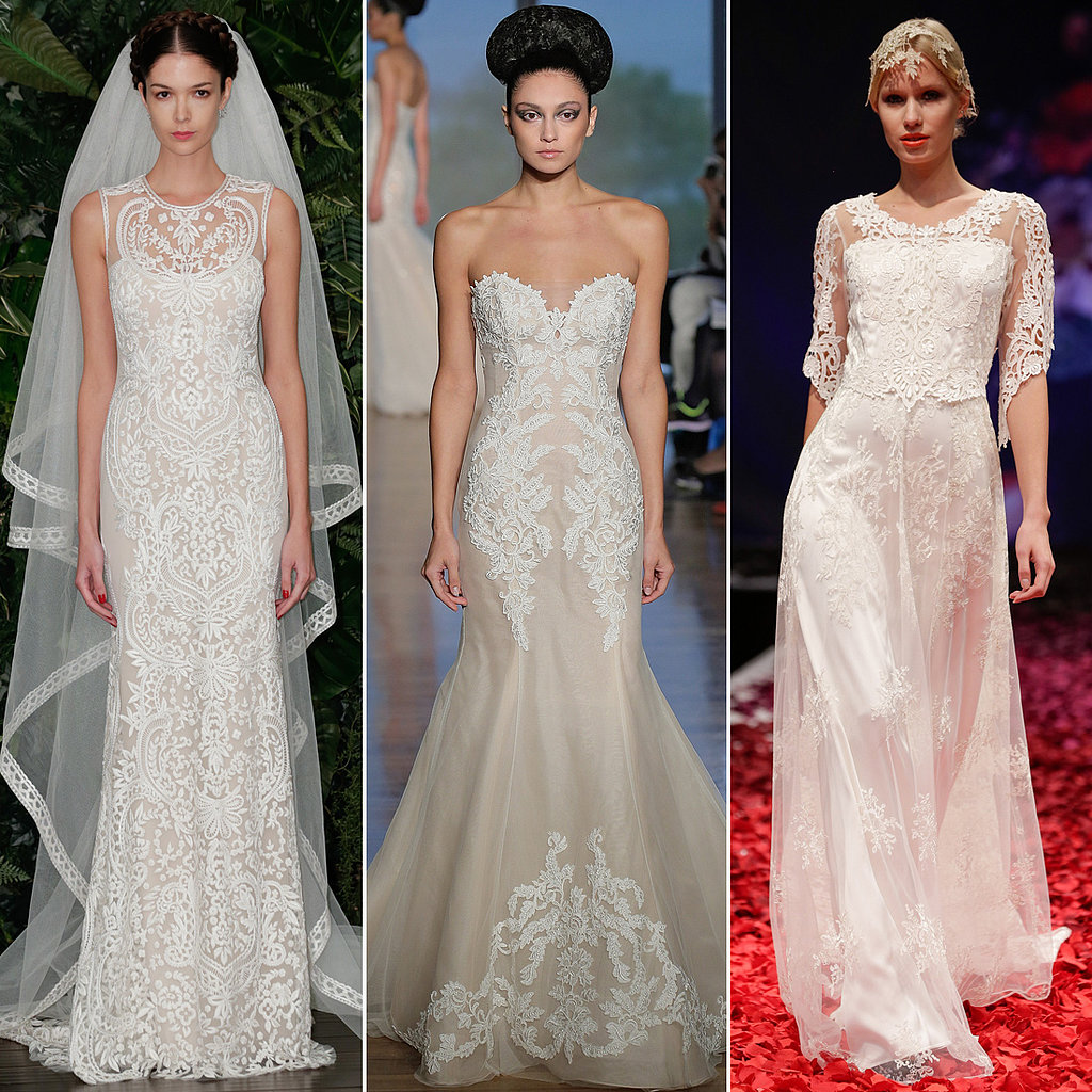 Best wedding dresses at bridal fashion week autumn 2014 for Wedding dress for 50 year old bride