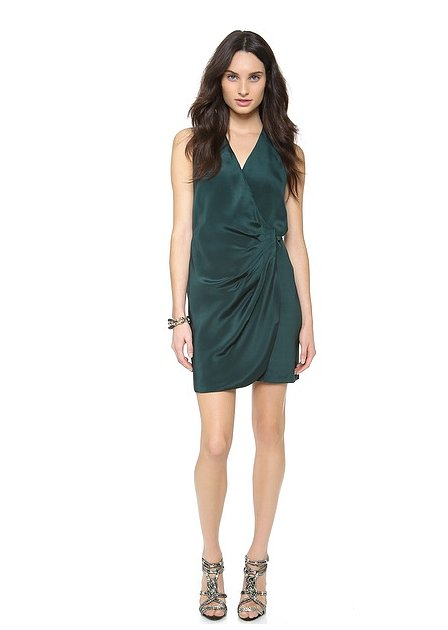 Just the right draping on this Parker Agent dress ($330).