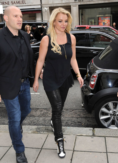 Britney Spears stepped out for lunch in London while wearing a Makko necklace.