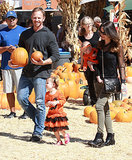 Ian Ziering took his family to the Mr. Bones Pumpkin Patch in LA.