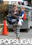 Selma Blair headed to an LA farmers market on Sunday with her son, Arthur.
