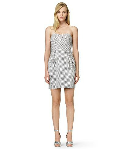 For an afternoon wedding, just slip into this subtly printed Club Monaco Natasha dress ($159, originally $229) — then dress it up with bright heels!
