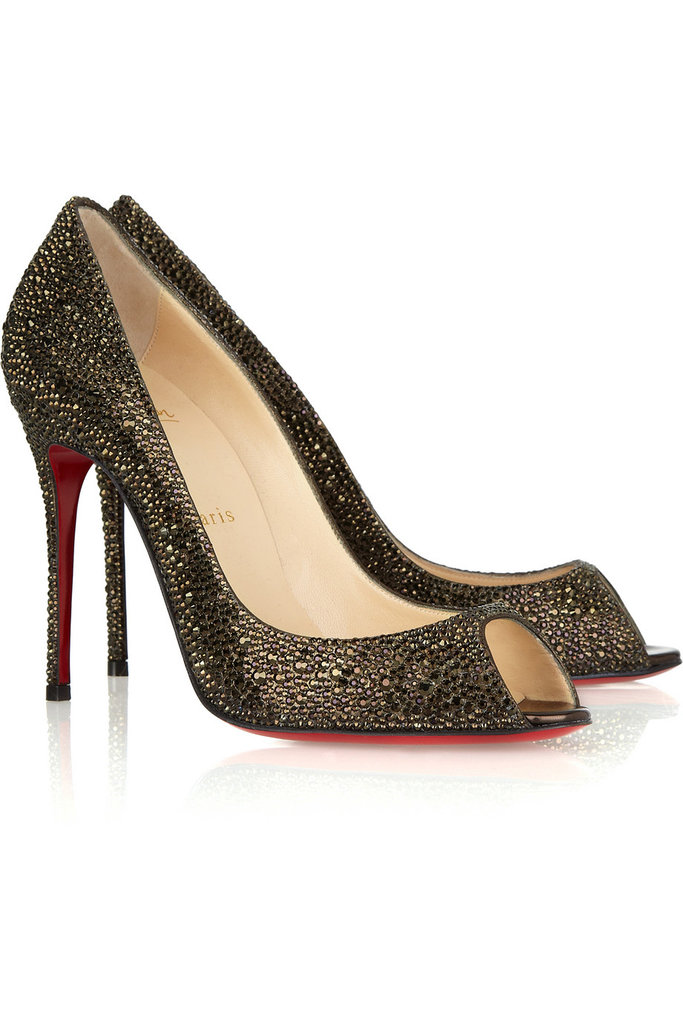 Christian Louboutin Sexy Strass Swarovski Peeptoe Pumps ($989 on sale)