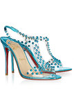 Christian Louboutin J. Lissimo Spiked Metallic Leather Sandals ($398 on sale)