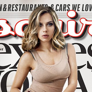 Scarlett Johansson Hair on Cover of Esquire
