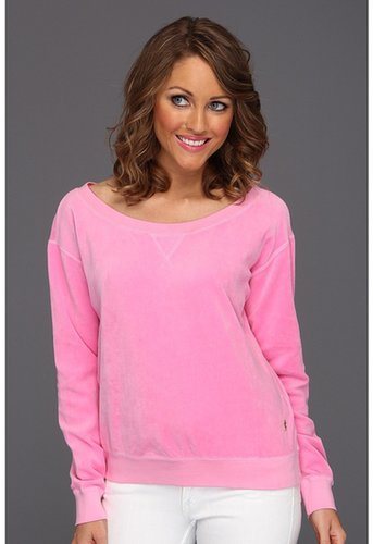 Juicy Couture - Off Shoulder Crew (Synthetic Pink) - Apparel