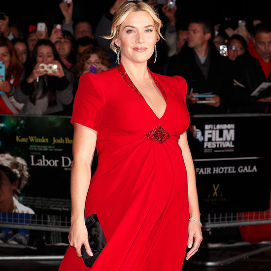 Kate Winslet Stuns (and Shows Off Her Baby Bump!) in Jenny Packham