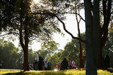 In Sydney, Australia, Muslim worshippers met for Eid al-Adha at Bicentennial Park.