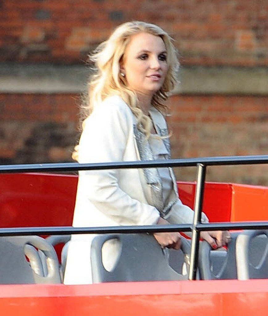 Britney Spears Hops on the Bus After Making a Big Announcement