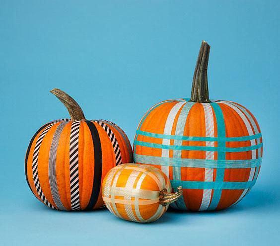 Washi Tape Pumpkins