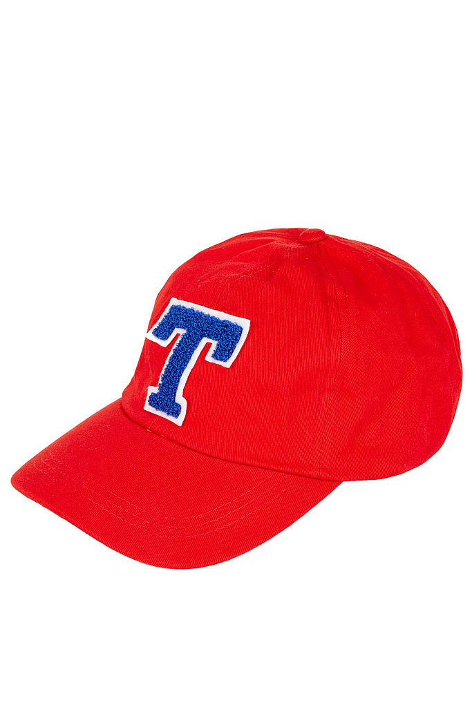 Topshop goes rather old school, playing the varsity card in this (faux) collegiate cap ($32).