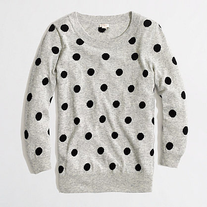 Factory intarsia Charley sweater in polka dot