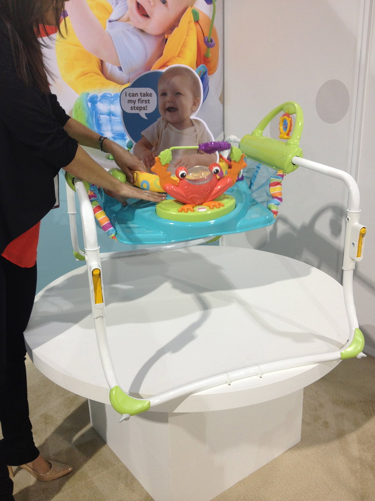 Fisher Price's Smart Stages Bouncer is big, but it starts out as a bouncer and then converts into an early stationery walker that helps kids with their first steps.
