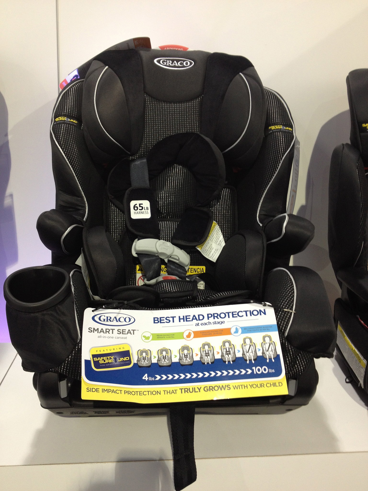 graco 39 s smart seat featuring safety surround is truly an all in one 133 baby products not even. Black Bedroom Furniture Sets. Home Design Ideas