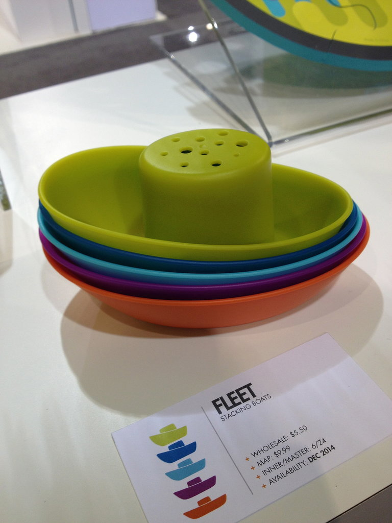 Boon's stackable Fleet boats are perfect for bath time.