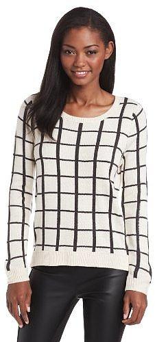 Olive & Oak Women's Large Window Pane Sweater