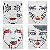Temporary Face Tattoos For Halloween