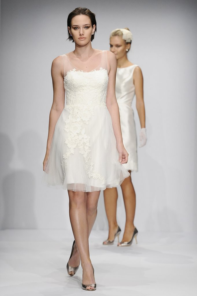 The trends of the wedding dress UK fall 2014 short style 6