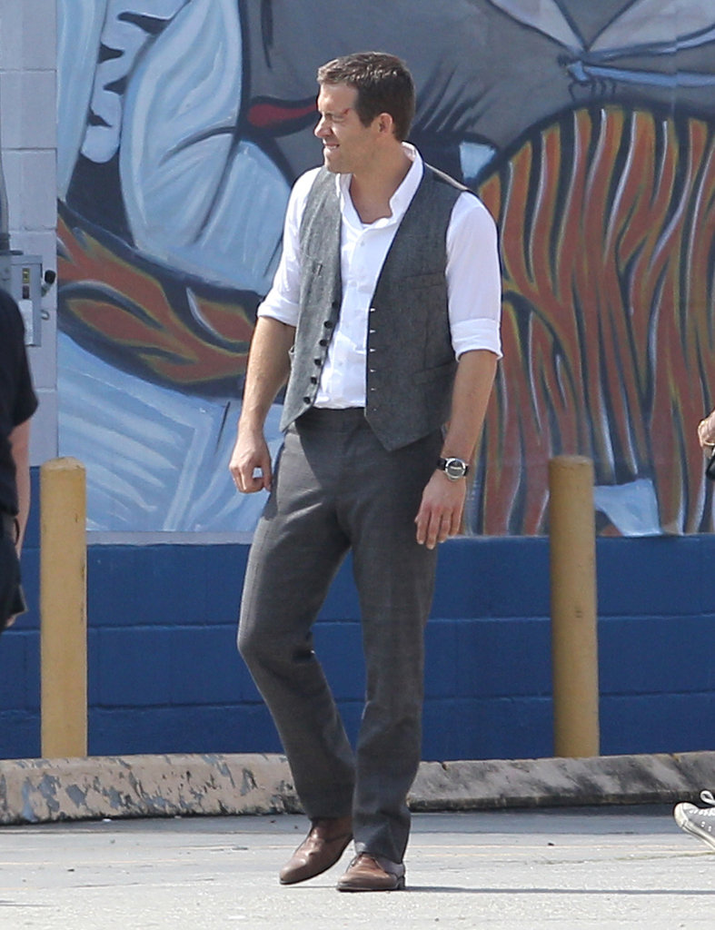 Ryan Reynolds wore a vest on set in New Orleans.