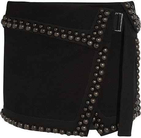 Isabel Marant Loop studded stretch-canvas mini skirt