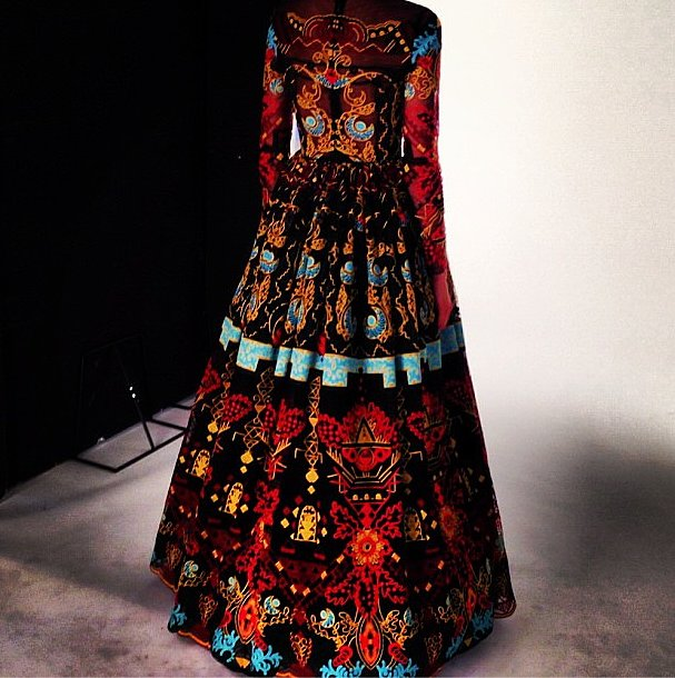Moda Operandi reminded us how much we're coveting the Spring Valentino collection with this tribal gown. Source: Instagram user modaoperandi