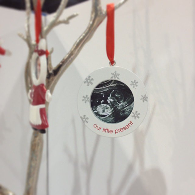 Pearhead's new sonogram Christmas ornaments are precious.