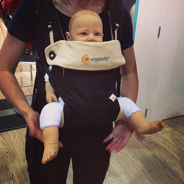 The Ergo 360 carrier is the company's first that faces forward. It also can be used in four positions — front forward, front inward, back, and hip. Its leg pouches are specially designed to keep babies in the frog position — preventing hip dysplasia.