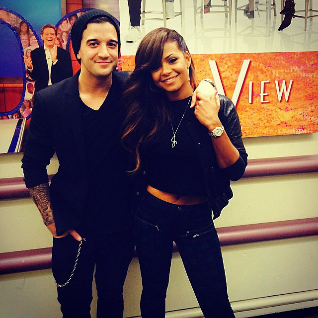 Mark Ballas and Christina Milian posed together after their appearance on The View. Source: Instagram user christinamilian