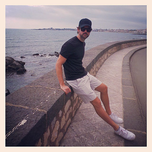 Brad Goreski struck a pose during his vacation in Sicily. Source: Instagram user mrbradgoreski