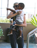 Charlize Theron held onto her son, Jackson.