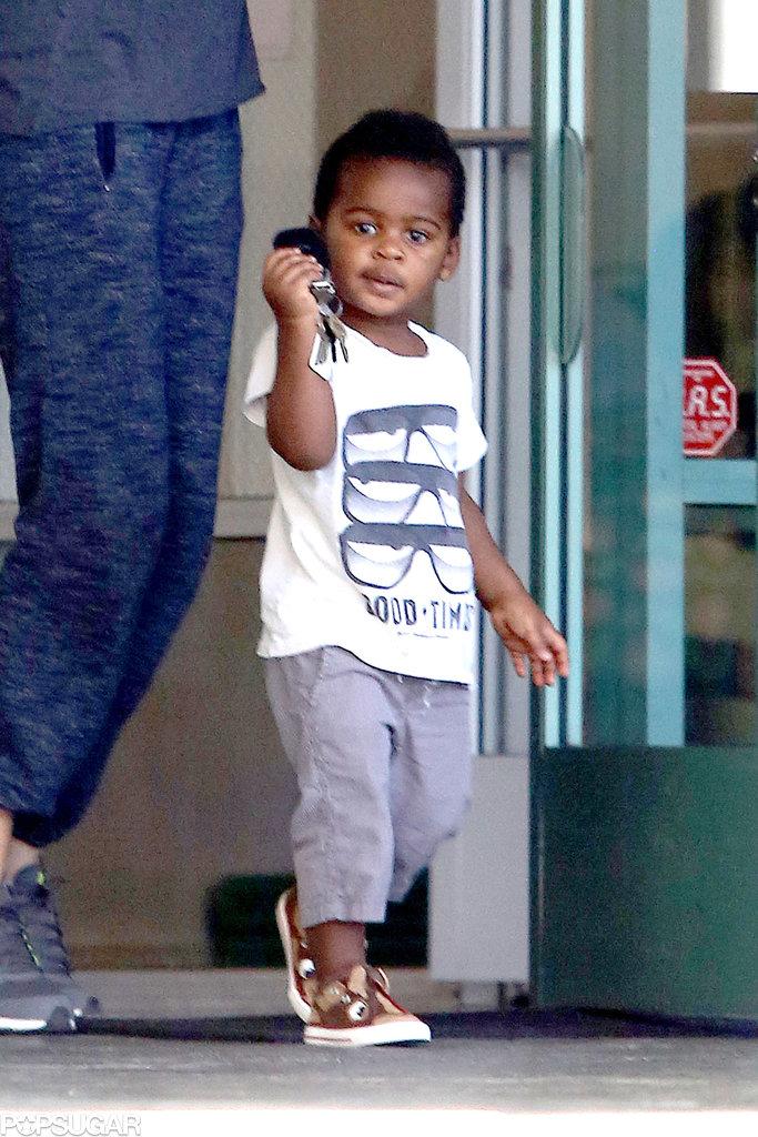 Jackson Theron held onto his mom's car keys.
