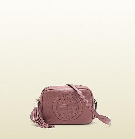 Soho Dark Pink Leather Disco Bag