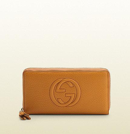 Soho Light Sunflower Leather Zip Around Wallet