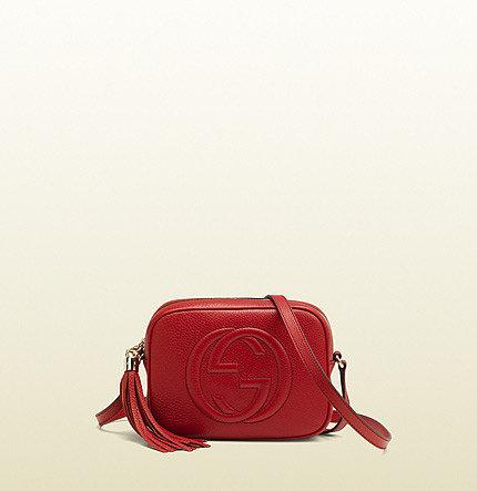 Soho Red Leather Disco Bag