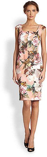 Dolce & Gabbana Rose Brush-Print Dress