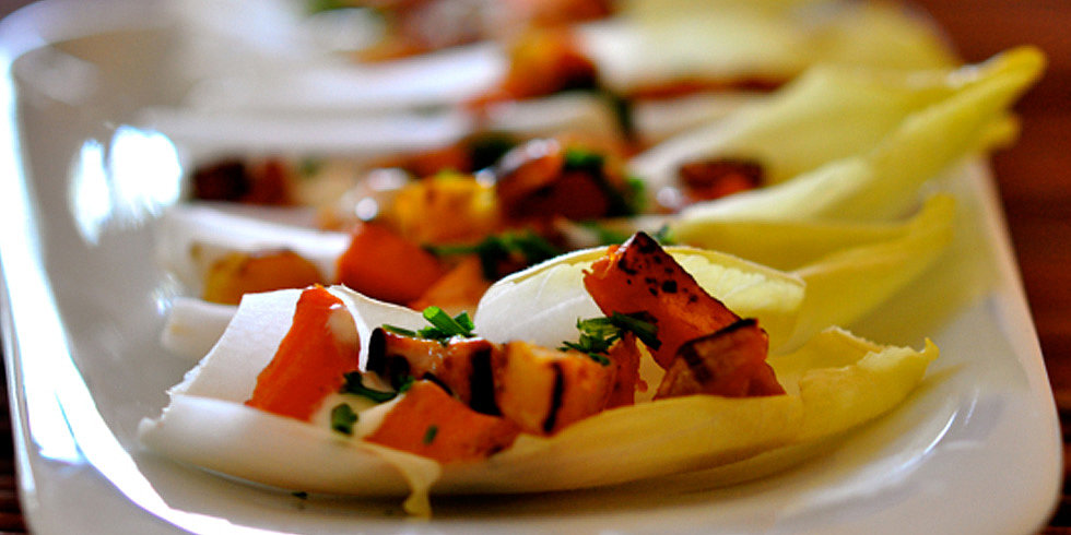Killer App: Sweet Potato and Bacon in Endive Boats