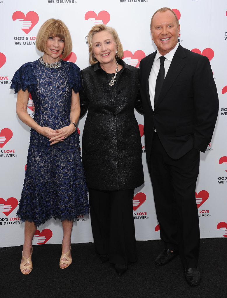 Anna Wintour, Hillary Clinton, and Michael Kors smiled for the camera at God's Love We Deliver's 2013 Golden Heart Awards on Thursday.