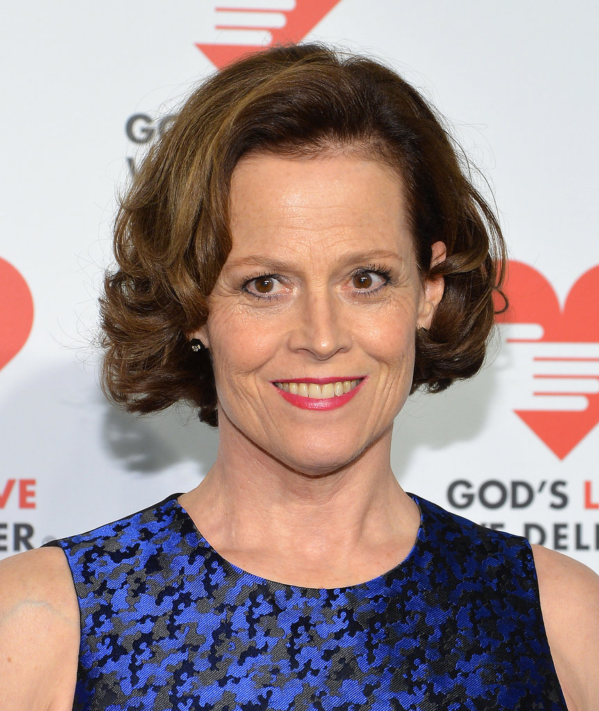 Signorney Weaver's red lipstick was a winner on the red carpet.