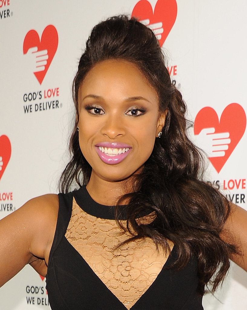 A half-up pompadour looked edgy on Jennifer Hudson.