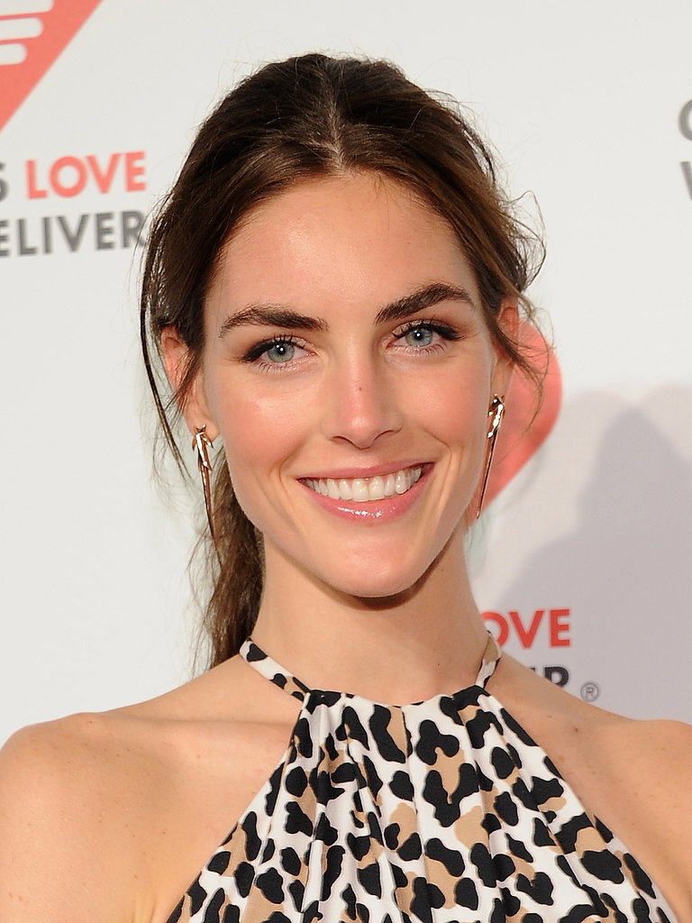 Hilary Rhoda's breezy ponytail and glowing skin makes us want to sweep our locks up, too.