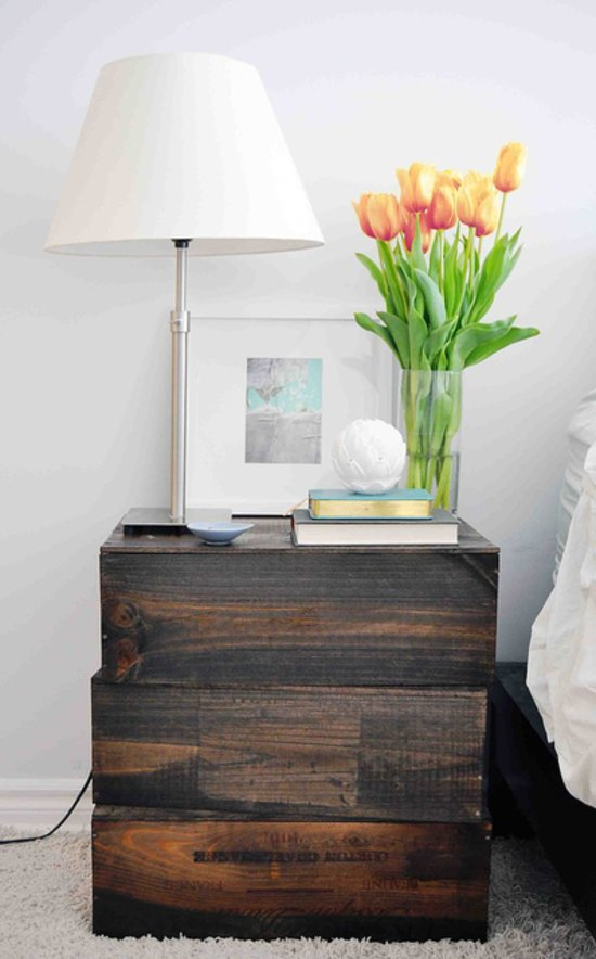 Nightstand ideas popsugar home for Empty wine crates