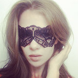 Amp up your sex appeal by covering up this Halloween. Add this lace mask ($25) to a variety of costumes for a little masquerade fun.