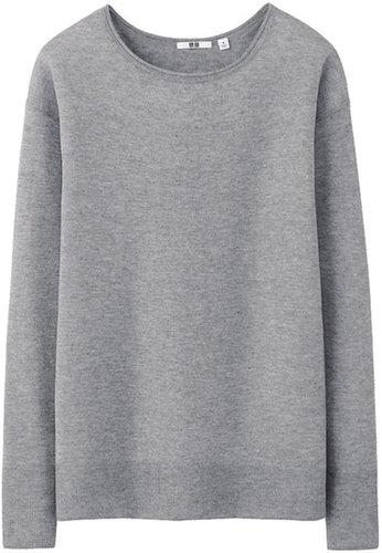 Women Cashmere Blend Fine Gauge Sweater